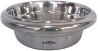 Petto Bowl with anti-skid bottom Stainless Steel Pet Bowl(2.84 L Silver)