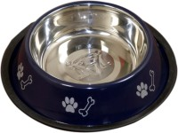Pethub Medium food bowl Round Stainless Steel Pet Bowl(920 ml Blue)