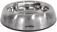 Petto Round Stainless Steel Pet Bowl(1 L Steel)