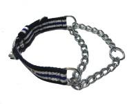 Agnpetspot. Martingale cotton 1 inch Plain Dog Collar Charm(Multicolor, Round)