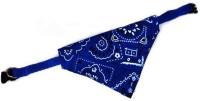Futaba Plain Dog Collar Charm(Blue, Round)
