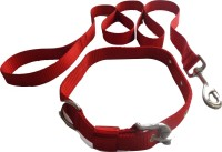 Suraj Chains Dog Collar & Leash(Large, Red)