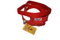 Bow! Wow !! Dog Collar & Leash(Medium, Peppy Red)