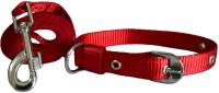 Paw Zone Dog Collar & Leash(Small, Red)