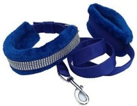 Bow! Wow !! Dog Collar & Leash(Large, Royal Blue)