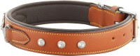Hill $ Oliver Dog Everyday Collar(Large, TAN BROWN)