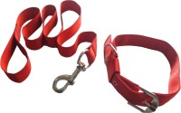 Suraj Chains Dog Collar & Leash(Extra Small, Red)
