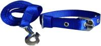 Paw Zone Dog Collar & Leash(Medium, Blue)