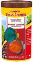 Sera Discus Granules 480g/1000ml | Staple Diet Sinking Granules With Garlic & Prebiotic Effect For Lively, Fertile Discus | 480 g Dry Fish Food