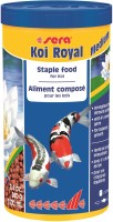 Sera Koi Royal Medium 240g/1000ml | Staple Food For Koi | Strengthens The Immune System With 4% Wheat Germ For Optimal Development | 240 g Dry Fish Food