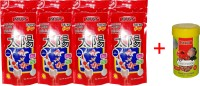Taiyo Grow 4x 100gm Pouch + 10gm Tubifex Worms Fish 410 g Dry Fish Food(Pack of 5)