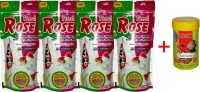 Taiyo Red Rose 4x100gm + 10gm Tubifex Worms Fish 410 g Dry Fish Food(Pack of 5)