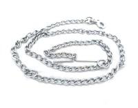 Scoobee Chain Plain No 12 152 cm Dog Chain Leash(Silver)