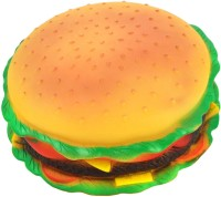 Futaba Burger Shape Squeaky Rubber Chew Toy For Dog