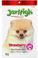 JerHigh Strawberry Chicken Dog Treat(70 g)