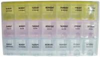 Raghav 1 week Medicine Reminder Tray Pill Box(Yellow, Pink, Ocean)