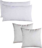 PumPum Solid Bed/Sleeping Pillow Pack of 4(White)