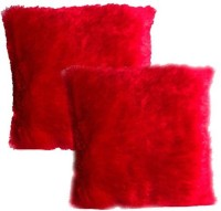 Home Candy Plain Decorative Cushion Pack of 2(Red)