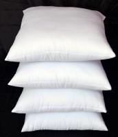 Marudhara Solid Back Cushion Pack of 4(White)