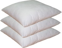 Lushomes Solid Throw Pillow Pack of 3(White)