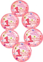 Funcart Sweet At One Princess Theme 9 Inch Quarter Plate(6 Quarter Plate)