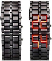 Kem Flow Gold Led Bracelet watch 293 Black Metel Pocket Watch Chain