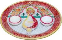 Mne Pooja Thaali Marble Pooja & Thali Set(1 Pieces, Multicolor)