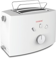 Clearline Crumb Tray and Defrost Capability 800 W Pop Up Toaster(White)