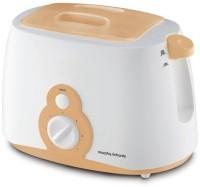 Morphy Richards AT-202 800 W Pop Up Toaster(White, Orange)