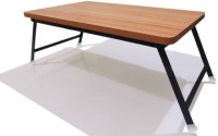 View Tough Board Metal Portable Laptop Table(Finish Color - Light Brown) Furniture