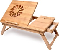 View Bamboo Arts Solid Wood Portable Laptop Table(Finish Color - Brown) Price Online(Bamboo Arts)