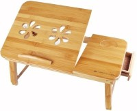 View Elite Mkt Solid Wood Portable Laptop Table(Finish Color - Brown) Price Online(Elite Mkt)