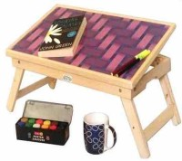 Ekta Product Solid Wood Portable Laptop Table(Finish Color - Light Oak)