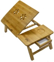 View Eros GLPT-1 Solid Wood Portable Laptop Table(Finish Color - Wallnut Gold) Price Online(Eros)