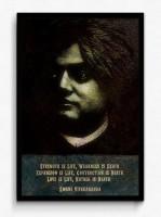 Seven Rays Swami Vivekananda - Strength is Life Framed (Small)(19 inch X 13 inch)
