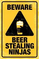 bCreative Beware Beer Steeling Ninja's (Officially Licensed) Paper Print(18 inch X 12 inch)