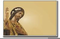 Posterhouzz Jesus Christ Religion Design Fine Art Print(12 inch X 18 inch, Rolled)