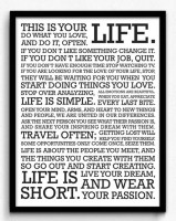 Seven Rays This is Your Life Framed (Small)(19 inch X 13 inch)