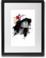 Shaildha's Water Colour Painting Print of Girl Next Door Abstract Fine Art Print(11 inch X 9 inch)