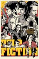 Posterhouzz Pulp Fiction Poster Fine Art Print(18 inch X 12 inch, Rolled)