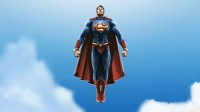 Superman Cartoon Poster Paper Print(12 inch X 18 inch, Rolled)