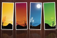 Delite Of Color Paper Print(12 inch X 18 inch, Streched)