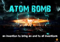 Bheja Fry Poster Atom bomb (29.7 cm x 42 cm) Paper Print(11.69 inch X 16.53 inch, Rolled)