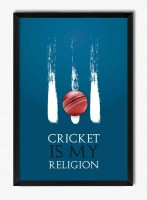 Seven Rays Cricket Is My Religion Framed Poster Paper Print(12 inch X 8 inch)
