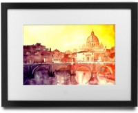 Shaildha's Water Colour Painting Print of Sunset In Rome Fine Art Print(9 inch X 11 inch)