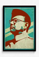 Seven Rays Subhashchandra Bose Framed Poster Paper Print (Small) Paper Print(17.5 inch X 13 inch)