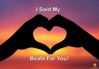 Bheja Fry Poster I said my heart beats for you (42 cm x 29.7 cm) Paper Print(11.69 inch X 16.53 inch, Rolled)