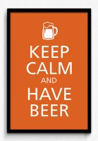 Seven Rays Keep Calm and Have Beer Framed (Small)(19 inch X 13 inch)