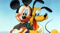 Disney Mikki & Pluto Cartoon Poster Paper Print(12 inch X 18 inch, Rolled)