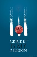 Posterhouzz Cricket Is My Religion Fine Art Print(18 inch X 12 inch, Rolled)